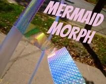 Mermaid DIY Taped Hoop Color-Change Rainbow Morph Hula Hoops - Translucent Color Morphing Tape - Cyan, Magenta, Orange, Purples