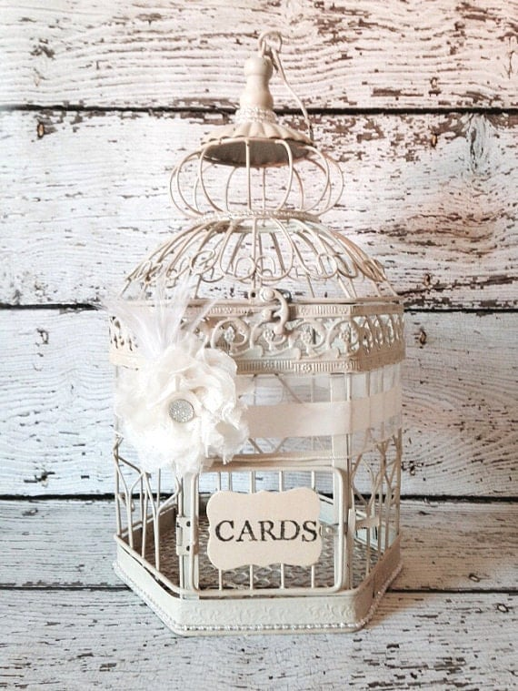 Reserved for Stephanie - NO GEM - Wedding Birdcage, Country Glam, Birdcage Card Holder, Large Bird Cage, Gatsby Wedding Decor // BC07