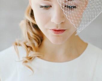 """Bridal Veil, Birdcage Wedding,Silk Flower - """"Celine"""""""