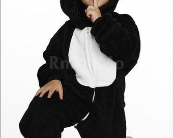 Halloween KIGURUMI Animal Pajamas Pyjamas Costume Onesie Kid SLOTH  black Piglet