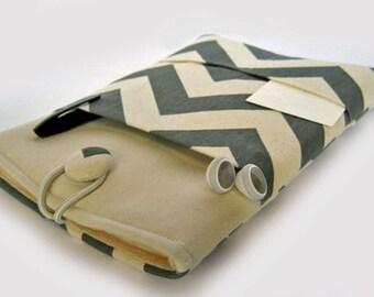 Macbook Pro Case, Macbook Pro Cover, 13 inch Macbook Pro Cover, 13 inch Macbook Pro Case, Laptop Sleeve, Grey Chevron