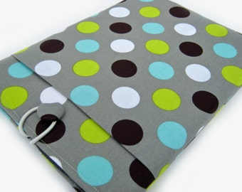 Macbook Air Case, Macbook Air Cover, 13 inch Macbook Air Cover, 13 inch Macbook Air Case, Laptop Sleeve, Green and Blue Polka Dots