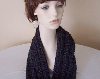 "Chunky Ribbed Infinity Scarf  - 60"" Length - Any Color - Fall, Winter Accessory"