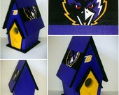 "Baltimore Ravens Painted 9"" Birdhouse"