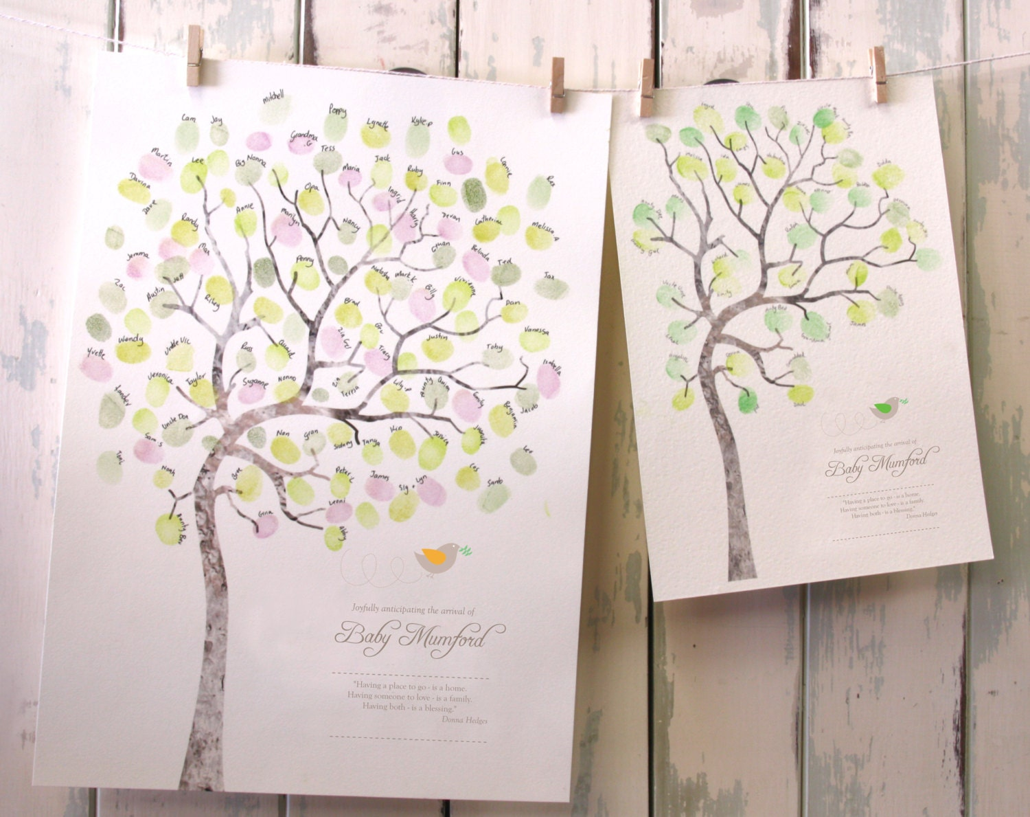 baby shower fingerprint tree diy baby room by miniinkfingerprints
