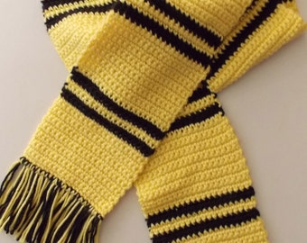 Yellow & Black Striped House Scarf - Made to Order