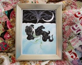 "5x7 The Little Mermaid ""Sea & Sky"" art print - signed"