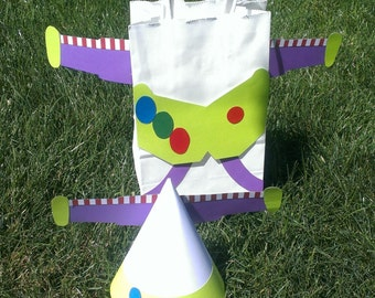 8 Toy Story Party Hats and Party Goody Bags- Buzz Lightyear