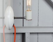 Industrial Wall Sconce - Bare Bulb Light - Plug In