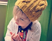 SALE! Hipster Toddler Girl Slouchy Cable Knit Hat