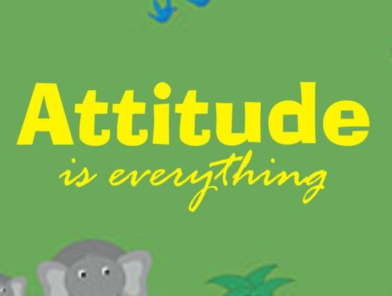 Attitude Is Everything Quote Decal Sticker Wall Boy Girl Teen
