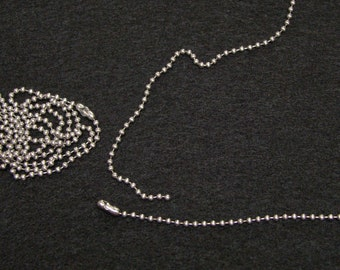 30 inches Stainless Steel Ball Chain Necklace, Chain, 30 inch, 2.4 mm, Made in the U.S.A.