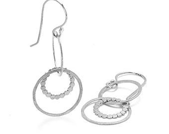 Hammered Sterling Earrings