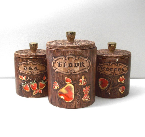 items similar to vintage ceramic kitchen canisters
