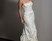 1920's style Ivory Wedding Gown in silky Satin SZ 3/4 Womens, Formal or Prom Gown
