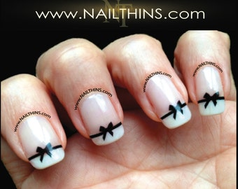 Black Bow Nail Decal  Bow Nail Art  NAILTHINS