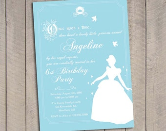 Cinderella Invitation / Cinderella Birthday invitation / Princess Invitation PDF Printable DIY Girlie
