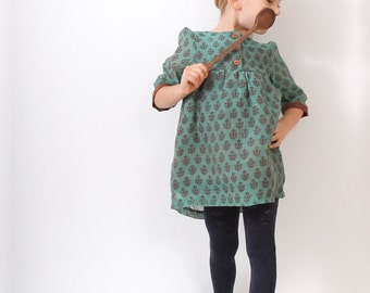 Boho toddler DRESS pattern - pdf tunic dress children sewing pattern - sizes 3T to 8 years