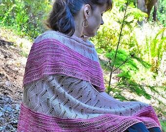 My Slice of Summer, a Knit Shawl Pattern, pdf download