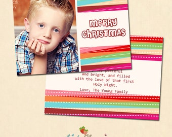 INSTANT DOWNLOAD 5x7 Multipurpose Card Photoshop Template - CA273