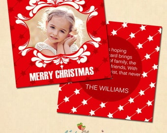 INSTANT DOWNLOAD 5x5 Multipurpose Card Photoshop template - CA249