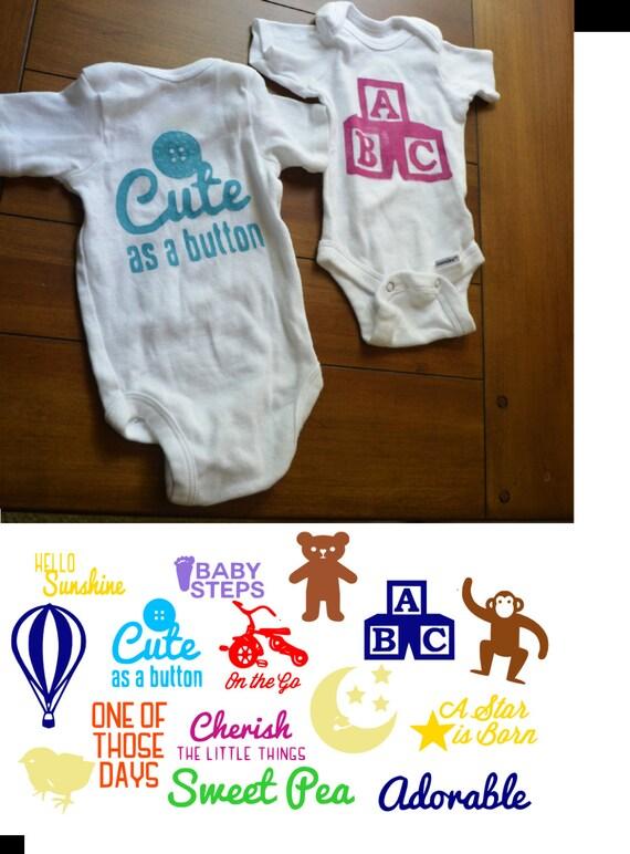 design a onesie baby shower kit paint a onesie kit onesie stencils
