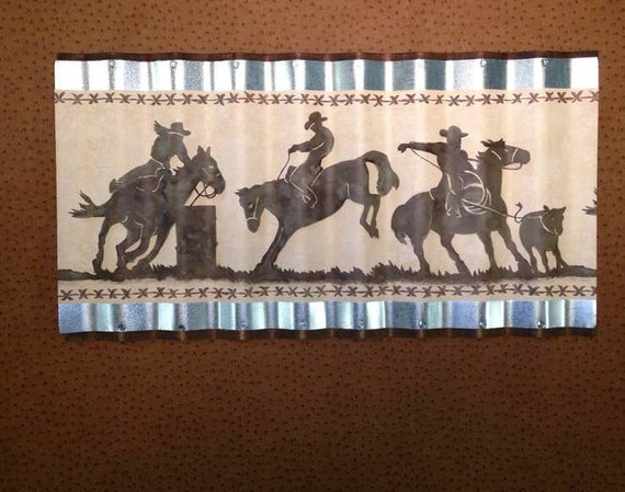 wiggle art metal western horse wallpaper border picture
