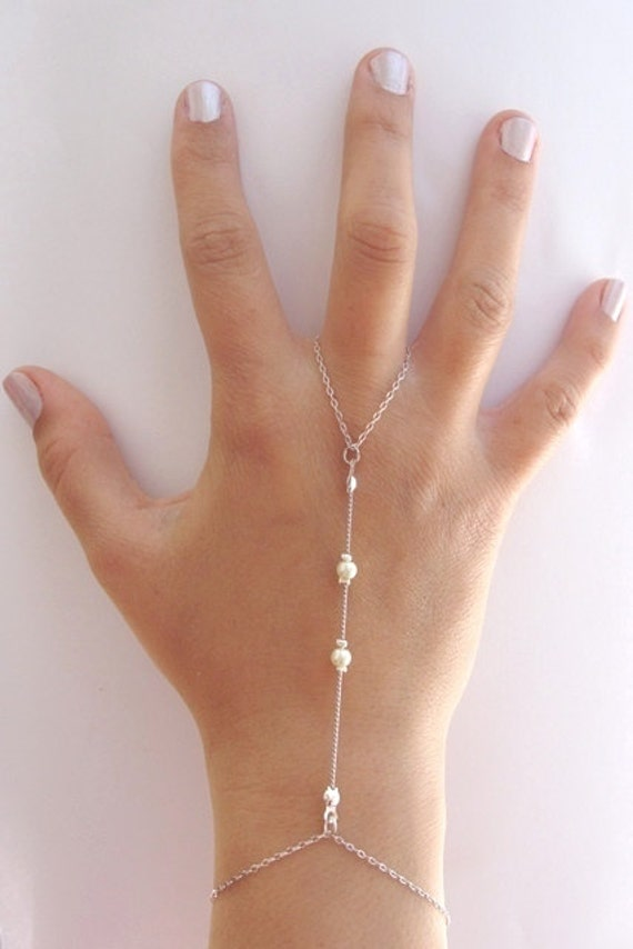 Finger Ring Attached To Bracelet