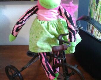 Custom designed Sock Monkey, animal, stuffed, doll