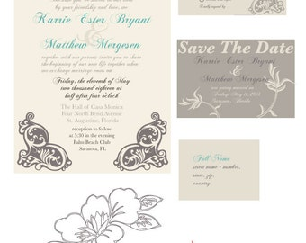 Rustic Wedding Invitation Download DIY Set Save The Date RSVP Card, Printable Wedding Invitations Diy