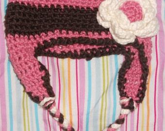 Handmade little girl's flower hat