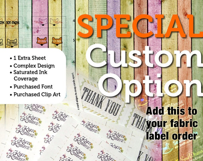 Special Custom Option —Add One Extra Sheet of Labels