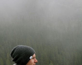 Gray Slouchy Beanie Mens Winter Beanie Grey Winter Toque Gray Hat Mens Slouchy Hat Slouchy Tuque Winter Hat Slouchy Hat Crochet Beanie