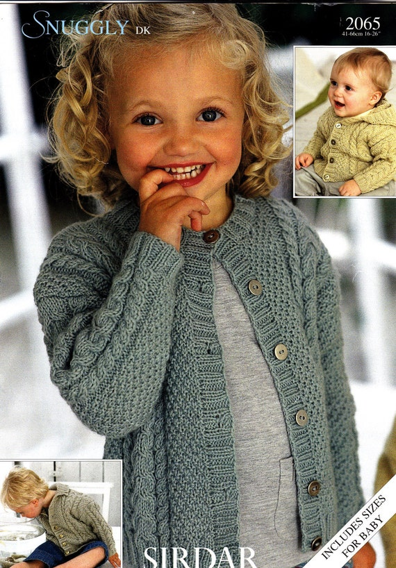 Sirdar Knitting Patterns Children : 2065 Sirdar Knitting Pattern Baby Child Cable Cardigans DK