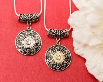 Bullet Casing Jewelry - Medallion Bullet Necklace (45)