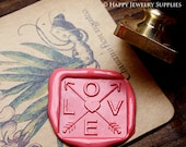 Buy 1 Get 1 Free - 1pcs 20/ 22/ 25mm Love Gold Plated Wax Seal Stamp (WS093)