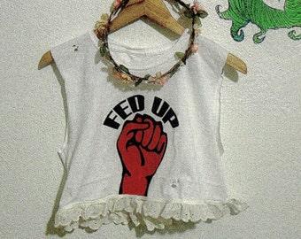 Fed Up Punk Crop Top // 90s Grunge // Soft Grunge // Punk