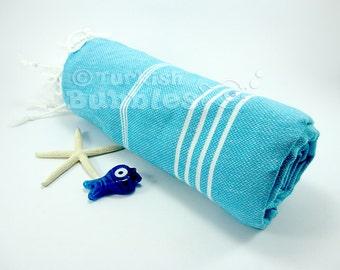 S A L E, Turkish Beach Towel, Turkish Towel, Gift for Her, Wedding Gift, Peshtemal, Cotton Bath Towel, Hammam Spa Towel, Fouta, Swim Towel