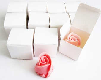 10 Rose Bud Soap Favors - Any occasion - Wedding Birthday Baby Anniversary Party - Handmade Glycerin - Select your color and scent