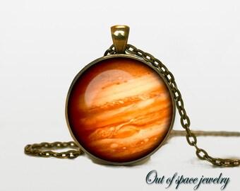 Jupiter Pendant Jupiter Necklace Jupiter Jewelry  galaxy universe space planet