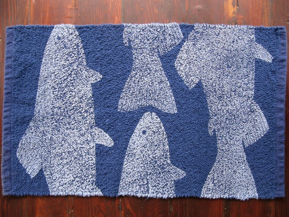 Unavailable listing on etsy for Fish bath rug