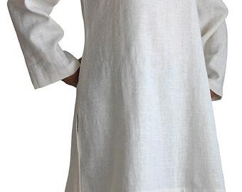 Soft Hemp Simple Kurta Tunic (BNN-082-02)