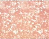Pink Hearts Abstract Art - Large Wall Art Print Also Available on Gallery Wrapped Canvas - StudioDandK