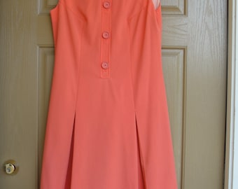 """Vintage 1960s Shelly's Tall Girl dress created for over 5'7""""   60s 70s Medium Large"""