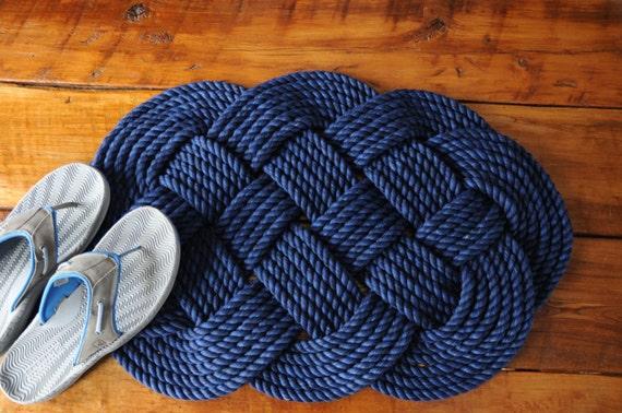 Items Similar To Navy Rope Rug Navy Decor Nautical