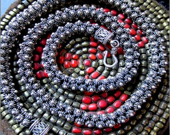 Vintage Silver Starflower Cluster Necklace