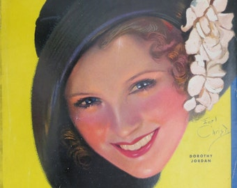 Original June 1931 Dorothy Jordan Photoplay Magazine Cover By Earl Christy - Hollywood's Golden Age