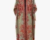 Cashmere Silk Reversible Gown in Verdigris