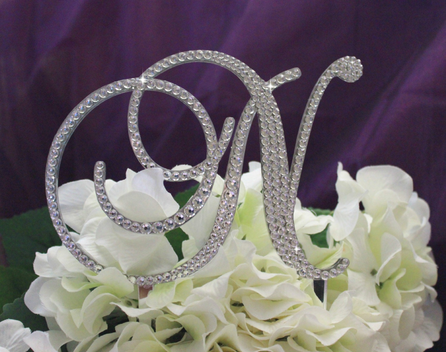 Wedding Cake Topper Monogram Decorated with by InitialMoments