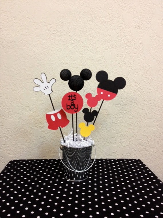 mickey mouse baby shower centerpiece it 39 s a boy